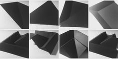 Folding black thick card, stable easy to fold, does not look good in reflection of light though has strong contrast.