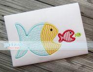One Fish Two Fish Applique Design