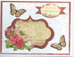 butterfly & rose Happy Birthday