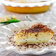 Impossible Coconut Pie ~ Impossibly easy...so delicious...it even makes its own 'crust' ~ via JoCooks