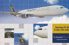 Pluna B767-300 Postcard