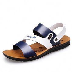 c15473e93 High Quality Men s Sandals Summer Anti-skid Leisure Beach Flat Sandals  Outdoor Slip-on Leather Shoes for Male Soft Bottom-Touchy High-Quality Men s  Sandals ...