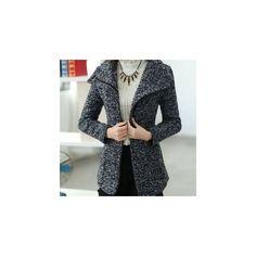 Tweed Zip Coat (180 BRL) ❤ liked on Polyvore featuring outerwear, coats, women, tweed coat, zipper coat, zip coat, gray coat and gray tweed coat