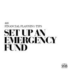 Everyone should have an emergency fund allowing them to have money available for unexpected events. Financial Tips, Financial Planning, Money Management, First Names, Adulting, Personal Finance, Helping People, Saving Money, Events