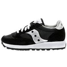 abf6ff0c9ca35 Saucony Jazz Original Womens 1044-1 Black Silver Running Training Shoes  Size 5