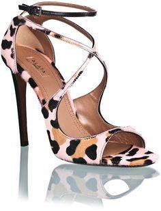 Alaia ~ Pink Leopard Sandal_Holy smokes I love this shoe! Leopard Sandals, Zapatos Shoes, Shoes Heels, Shoe Boots, Ankle Boots, Pink Leopard, Hot Shoes, Pumps, Girls Shoes