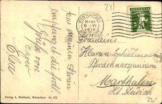 Rückseite Postkarte Tössfeld 1916