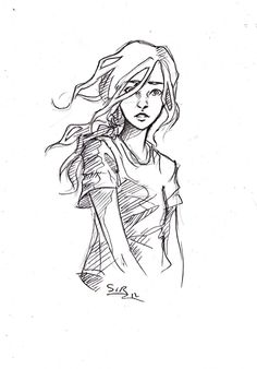 I imagine this is how Annabeth looked a lot of the time when she was preparing for her first quest with Percy and Grover. She's always wanted to prove herself, she's always wanted to be out in the world, but... it's terrifying to think you might never be able to go home again, and she's only 12.