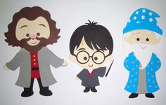 Harry Potter and Wizards Paper Die Cut Paper Dolls Scrapbook Embellishment