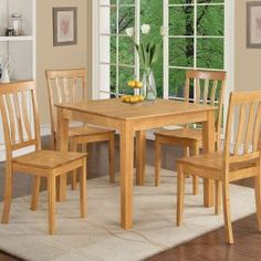 Square Wooden Kitchen Table And Chairs