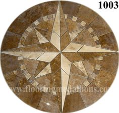 Floor tile medallion of a Compass Rose.