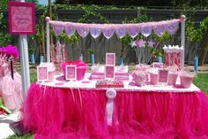 Princess Party Dessert Table. Beautiful! Source: Sweets Indeed