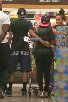 Tyga & Blac Chyna shopping at the supermarket in Calabasas, CA I♥BlacChyna