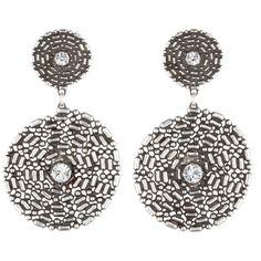 DANNIJO Stellar ($395) ❤ liked on Polyvore featuring jewelry, earrings, swarovski crystal earrings, oxidized jewelry, swarovski crystal jewelry, earring jewelry and dannijo