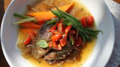 Agneau braisé et salsa de tomates olivette - Recettes - À la di Stasio