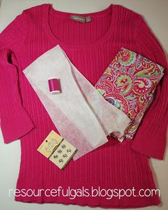 DIY Cardigan Sweater Refashion | by The Resourceful Gals More