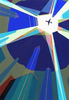 점선면만으로 구성된 공간가ㅁ Airport Design, Book Projects, Painting For Kids, Op Art, Design Reference, Digital Illustration, Art Direction, Art Drawings, Poster Prints