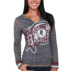 Women's Washington Redskins Burgundy Wild Card Mesh V-Neck T-Shirt