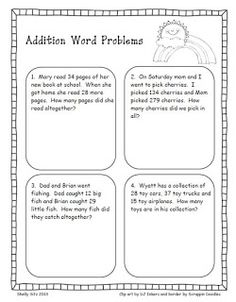 Missing Addends Word Problems  JennaS Pins    Word