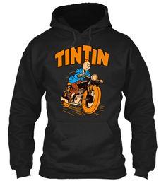 Tintin   Tintin Best Tee Black Sweatshirt Front