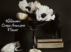 Halloween Crepe Anemone Flower….