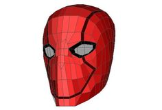 DC Comics - Red Hood Helmet Ver.4 Free Papercraft Download - http://www.papercraftsquare.com/dc-comics-red-hood-helmet-ver-4-free-papercraft-download.html#DCComics, #Helmet, #RedHood