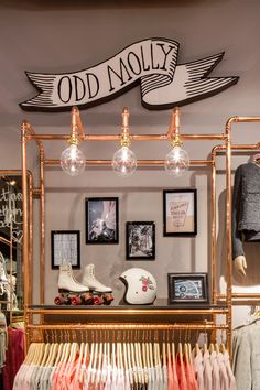 Odd Molly Boutique Lund, Sweden | Interior | Shop | Boho | Copper | Rollerskates