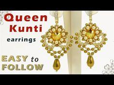 Handmade beaded earrings with 12 mm rivolis tutorial - YouTube