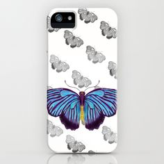 Blue Butterfly iPhone & iPod Case