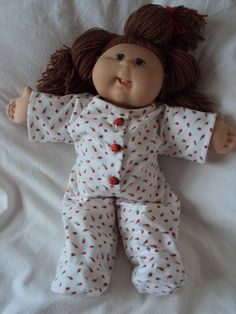 I gave Maddy my old cabbage patch doll. New clothes would be great!
