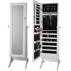 Shop for Premium White Cheval Mirror Jewelry Cabinet Armoire Box Stand Organizer Full-size Storage Case. Get free delivery at Overstock.com - Your Online Furniture Store! Get 5% in rewards with Club O!