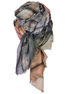 efda584bb73c Kashmir-silke tørklæde - Cashmere Silk Art Scarf - Library