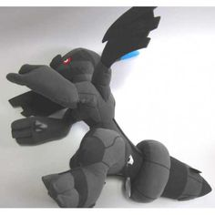 Pokemon 2011 Banpresto UFO Game Catcher Prize Zekrom Extra Large Size Plush Toy
