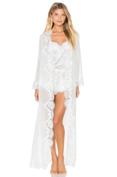 Homebodii Helena Lace Robe | Bridal Robe #REVOLVE