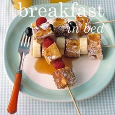 Breakfast in Bed - 15 recipes the kids can help with to make mum or dad a special breakfast in bed.