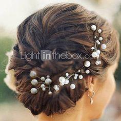 tocados bonitas horquillas cinco piezas perlas de la boda / fiesta - AUD $ 9.72