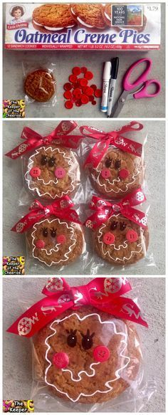 Cutest pre-packaged gingerbread cookies for a christmas treat in the classroom!