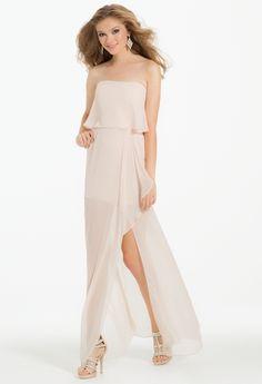 Popover with Cascade Side Slit Dress
