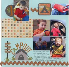 Camp out travel scrapbook layout