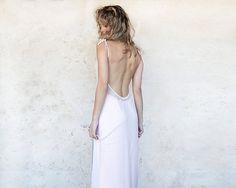 Bridesmaids light pink dress open back maxi dress by Michalfilmar, ₪550.00