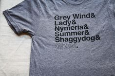 Etsy - the Direwolves of Winterfell Tri-Blend Tee Shirt