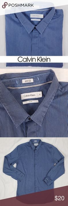 New w//Tags Tommy Bahama Men/'s Bebel Stripe Bering Blue Long Sleeve Cotton Shirt
