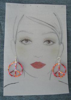 Sterling Silver Peace Earrings #5031
