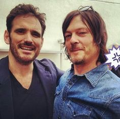 Matt Dillon (Dally in The Outsiders movie) and Norman Reedus 7/25/14 Best picture in the world... Lol