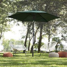 ACAPULCO modern bistro set - table and chairs in white Garden Parasols, Garden Poles, Umbrella Decorations, Acapulco Chair, Parasol Base, 3 Piece Bistro Set, Market Garden, Outdoor Umbrella, Market Umbrella