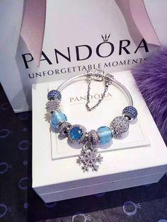 50% OFF!!! $279 Pandora Charm Bracelet Blue. Hot Sale!!! SKU: CB01976 - PANDORA Bracelet Ideas