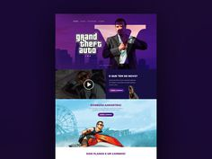 This is a great GTA V landing page template you can use to create a website related to this game. Great job done by the designer Rodrigo Laia.