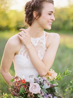 So beautiful, it's unreal ~ #EnzoaniRealBride Maegan in our Isla gown! | Heather Hawkins Photography