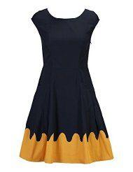 e Shakti women's scallop trim poplin dress via Amazon.com