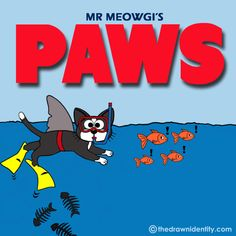 PAWS One in 6 in an illustrated parody series about a successful cat actor, Mr Meowgi, making it big in Hollywood. In Hollywood, Actors, Illustration, Projects, Movies, Cat, Log Projects, Blue Prints, Films